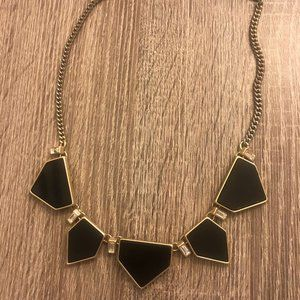 Express Black and Gold Statement Necklace